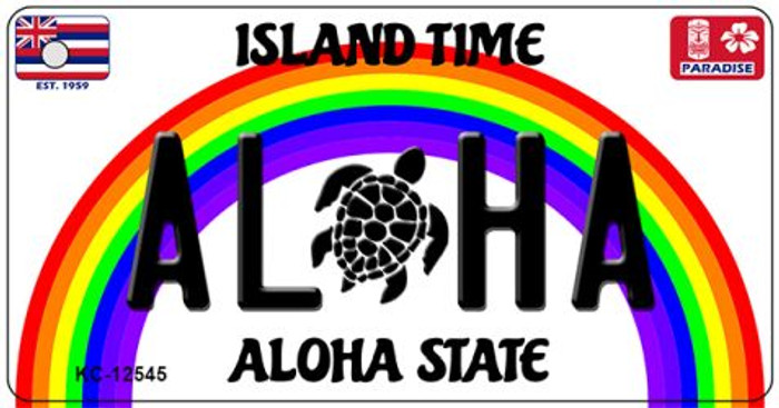 Aloha Turtle Hawaii Wholesale Novelty Metal Key Chain KC-12545