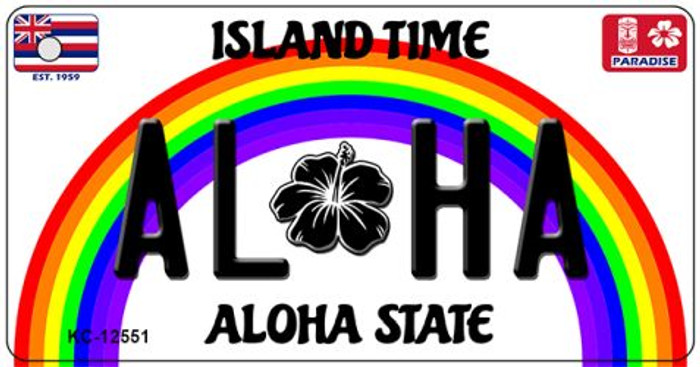 Aloha Hawaii Wholesale Novelty Metal Key Chain KC-12551