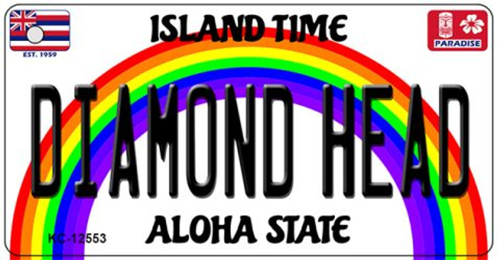 Diamond Head Hawaii Wholesale Novelty Metal Key Chain KC-12553
