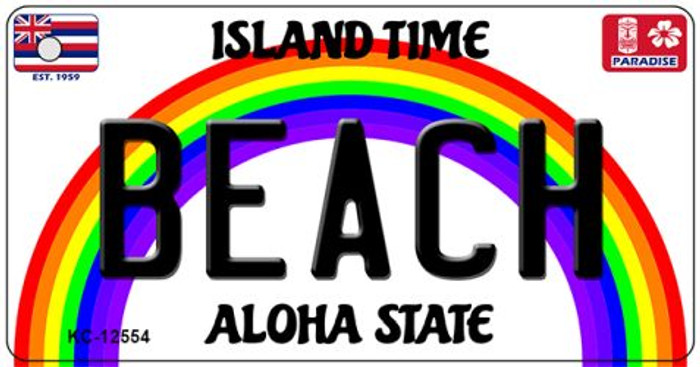 Beach Hawaii Wholesale Novelty Metal Key Chain KC-12554