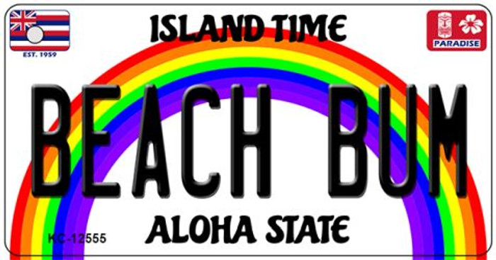 Beach Bum Hawaii Wholesale Novelty Metal Key Chain KC-12555