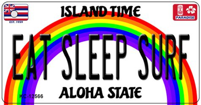 Eat Sleep Surf Hawaii Wholesale Novelty Metal Key Chain KC-12566