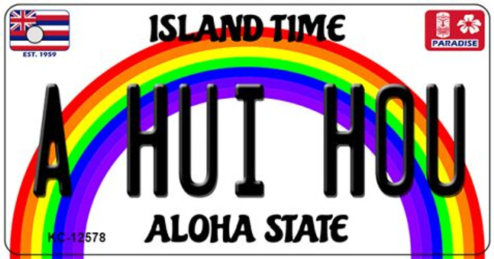 A Hui Hou Hawaii Wholesale Novelty Metal Key Chain KC-12578