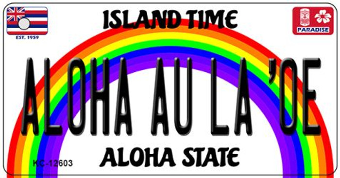 Aloha Au La Oe Hawaii Wholesale Novelty Metal Key Chain KC-12603