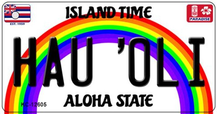 Hau Oli Hawaii Wholesale Novelty Metal Key Chain KC-12605