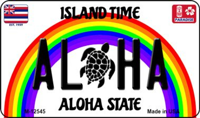 Aloha Turtle Hawaii Wholesale Novelty Metal Magnet M-12545