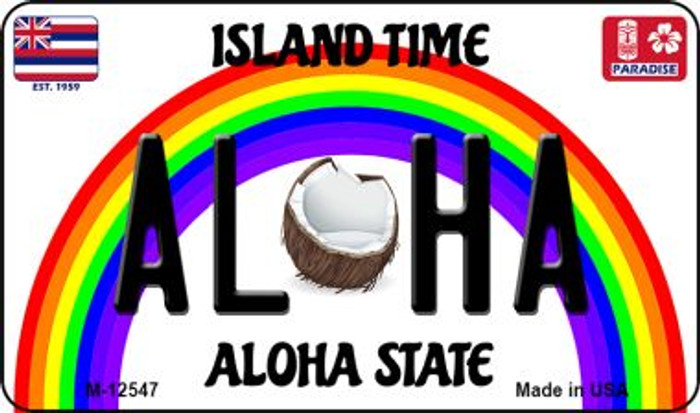 Aloha Coconut Hawaii Wholesale Novelty Metal Magnet M-12547