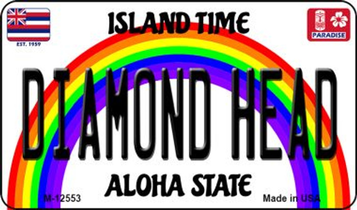 Diamond Head Hawaii Wholesale Novelty Metal Magnet M-12553