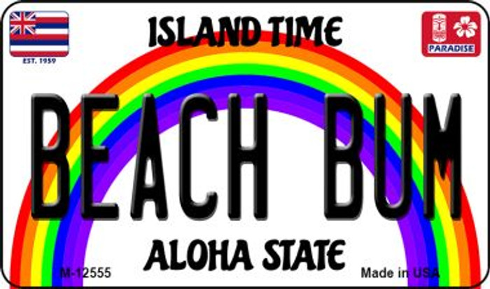 Beach Bum Hawaii Wholesale Novelty Metal Magnet M-12555