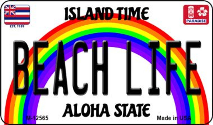 Beach Life Hawaii Wholesale Novelty Metal Magnet M-12565