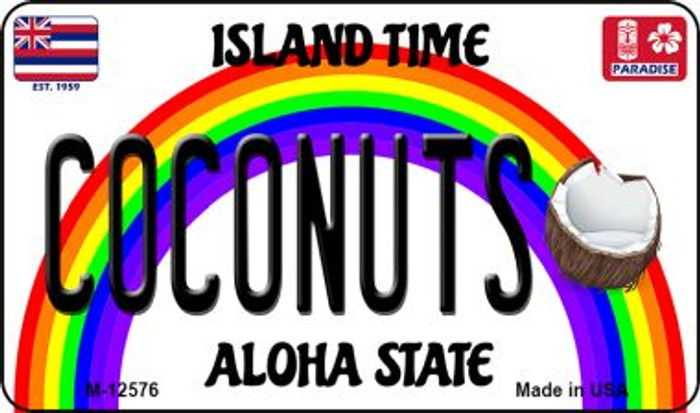 Coconuts Hawaii Wholesale Novelty Metal Magnet M-12576