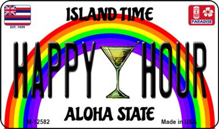 Happy Hour Hawaii Wholesale Novelty Metal Magnet M-12582
