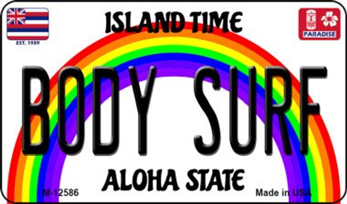Body Surf Hawaii Wholesale Novelty Metal Magnet M-12586