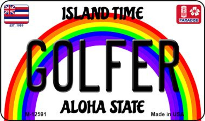 Golfer Hawaii Wholesale Novelty Metal Magnet M-12591