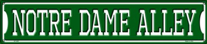 Notre Dame Alley Wholesale Novelty Metal Street Sign ST-1097