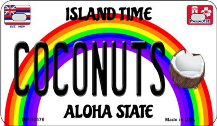 Coconuts Hawaii Wholesale Novelty Metal Motorcycle Plate MP-12576