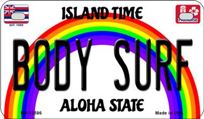 Body Surf Hawaii Wholesale Novelty Metal Motorcycle Plate MP-12586