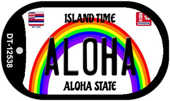 Aloha Hawaii Wholesale Novelty Metal Dog Tag Necklace DT-12538