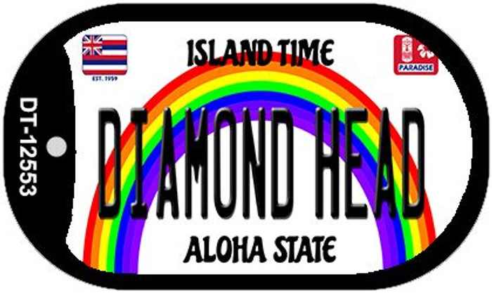 Diamond Head Hawaii Wholesale Novelty Metal Dog Tag Necklace DT-12553