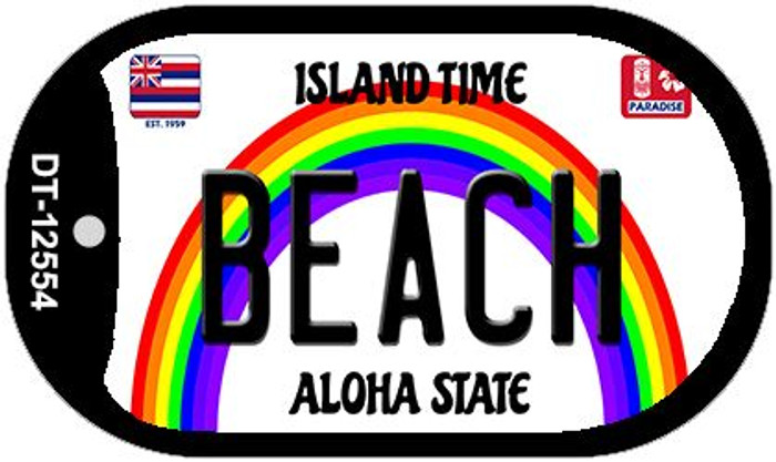Beach Hawaii Wholesale Novelty Metal Dog Tag Necklace DT-12554