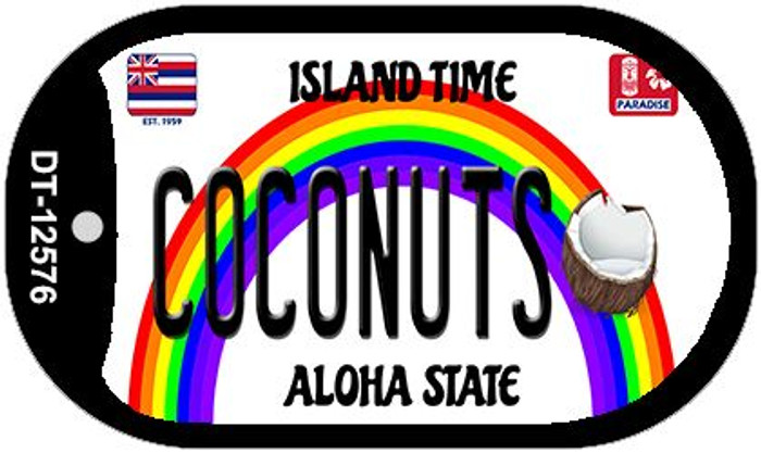 Coconuts Hawaii Wholesale Novelty Metal Dog Tag Necklace DT-12576