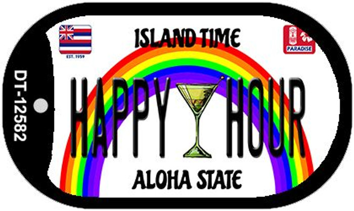 Happy Hour Hawaii Wholesale Novelty Metal Dog Tag Necklace DT-12582