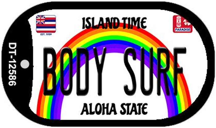 Body Surf Hawaii Wholesale Novelty Metal Dog Tag Necklace DT-12586