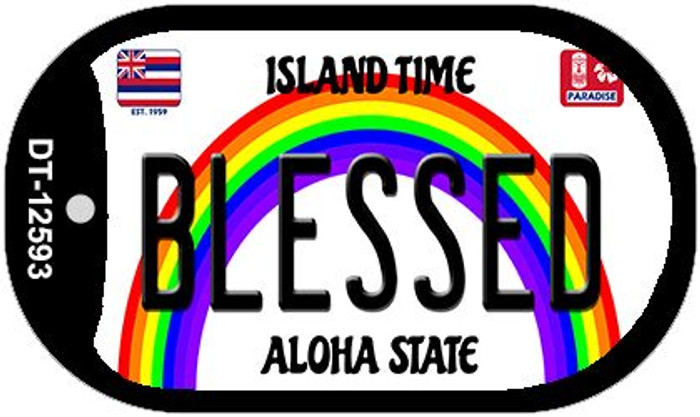 Blessed Hawaii Wholesale Novelty Metal Dog Tag Necklace DT-12593