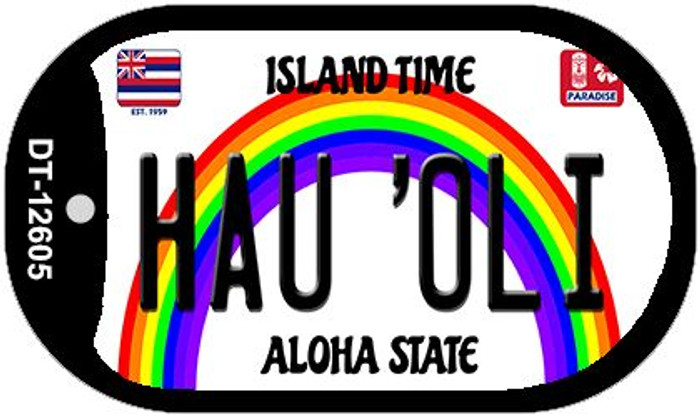 Hau Oli Hawaii Wholesale Novelty Metal Dog Tag Necklace DT-12605