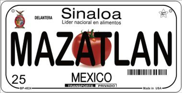 Mazatlan Mexico Wholesale Novelty Metal Bicycle Plate BP-4824