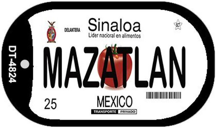 Mazatlan Mexico Wholesale Novelty Metal Dog Tag Necklace DT-4824