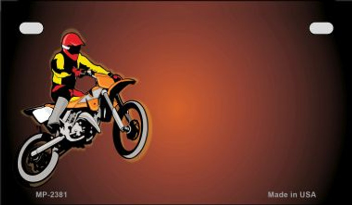 Dirt Bike Offset Wholesale Novelty Metal Motorcycle Plate MP-2381