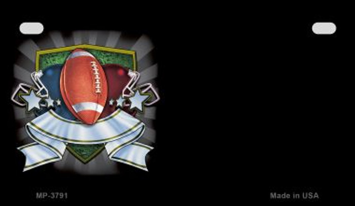 Football Banner Offset Wholesale Novelty Metal Motorcycle Plate MP-3791