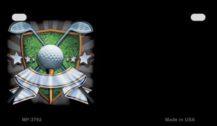 Golf Banner Offset Wholesale Novelty Metal Motorcycle Plate MP-3792