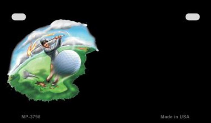 Golf Offset Wholesale Novelty Metal Motorcycle Plate MP-3798
