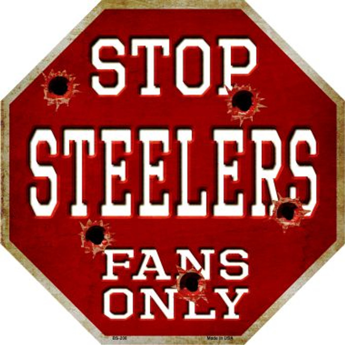Steelers Fans Only Wholesale Metal Novelty Octagon Stop Sign BS-208