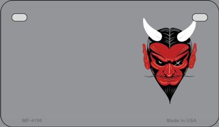 Devil Offset Wholesale Novelty Metal Motorcycle Plate MP-4196