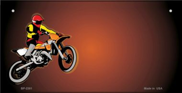 Dirt Bike Offset Wholesale Novelty Metal Bicycle Plate BP-2381