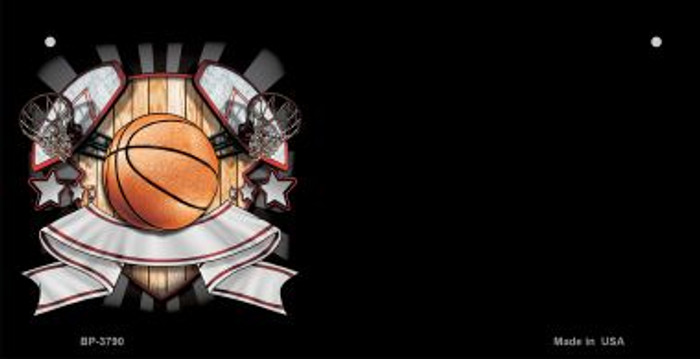 Basketball Banner Offset Wholesale Novelty Metal Bicycle Plate BP-3790