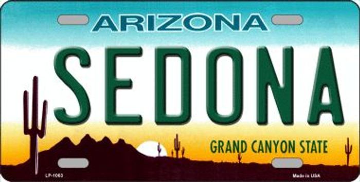 Sedona Arizona Novelty Wholesale Metal License Plate