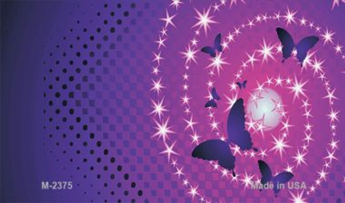 Butterflies and Stars Offset Wholesale Novelty Metal Magnet M-2375