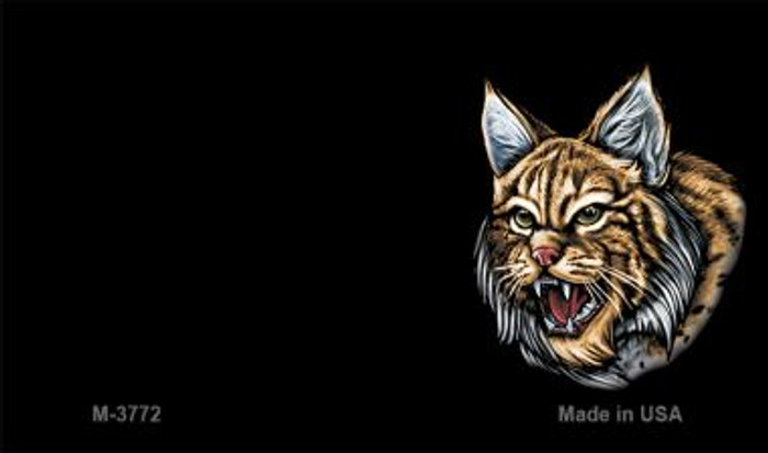 Bobcat Offset Wholesale Novelty Metal Magnet M-3772