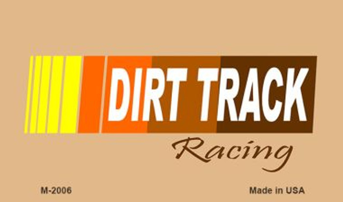 Dirt Track Racing Wholesale Novelty Metal Magnet M-2006