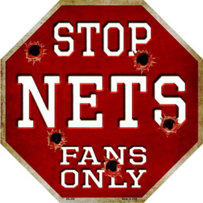 Nets Fans Only Wholesale Metal Novelty Octagon Stop Sign BS-260