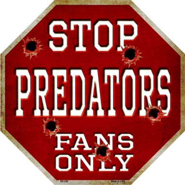 Predators Fans Only Wholesale Metal Novelty Octagon Stop Sign BS-298