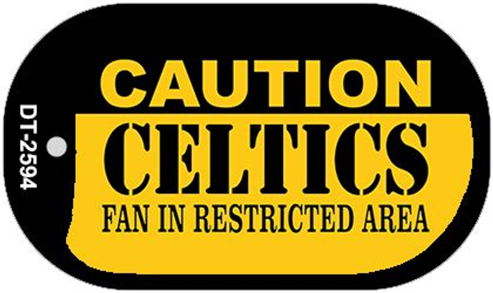 Caution Celtics Fan Area Wholesale Novelty Metal Dog Tag Necklace DT-2594
