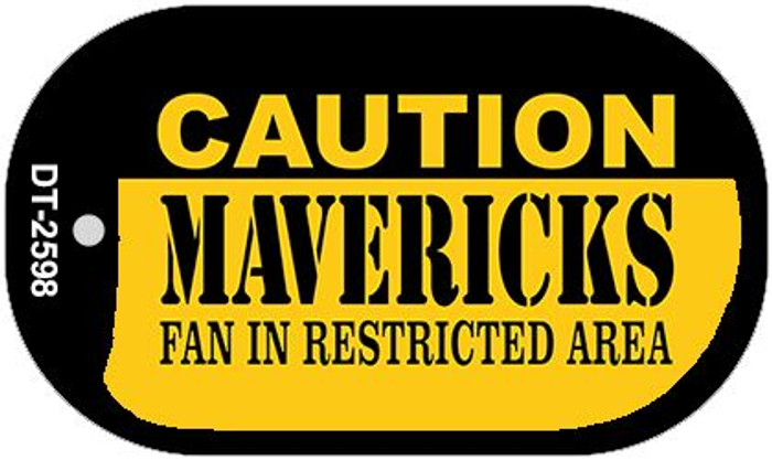 Caution Mavericks Fan Area Wholesale Novelty Metal Dog Tag Necklace DT-2598