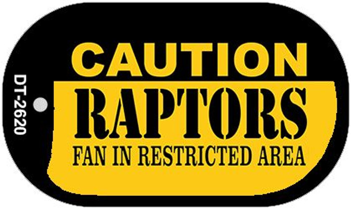 Caution Raptors Fan Area Wholesale Novelty Metal Dog Tag Necklace DT-2620