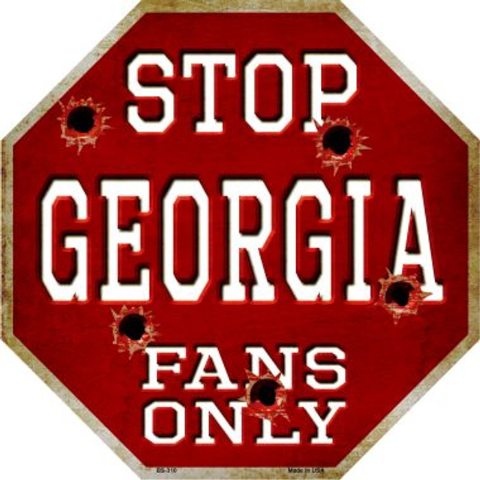 Georgia Fans Only Wholesale Metal Novelty Octagon Stop Sign BS-310
