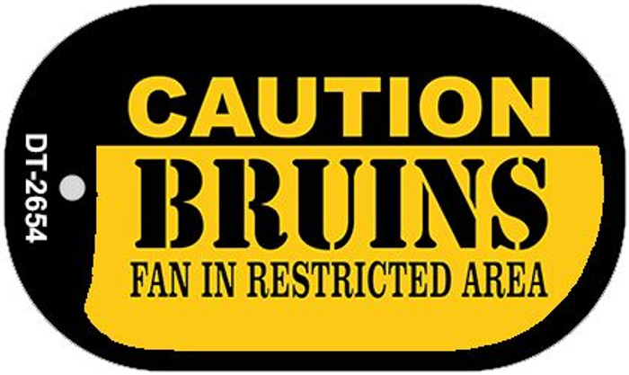 Caution Bruins Fan Area Wholesale Novelty Metal Dog Tag Necklace DT-2654